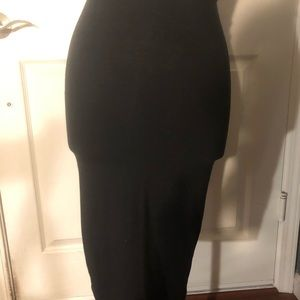 Divided Black pencil skirt Size: Small